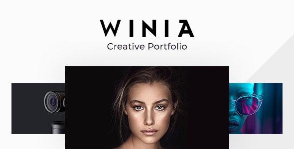 Winia - Creative Ajax Portfolio Template - Creative Site Templates