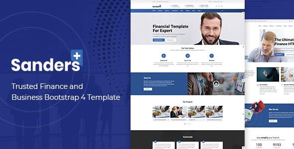 Finance Business HTML Template - Sanders