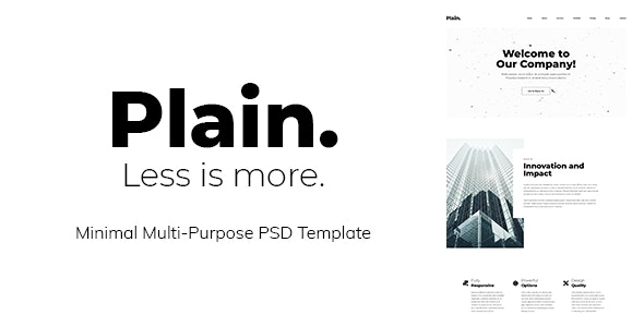 Plain - Minimal Multi-Purpose PSD Template - Creative PSD Templates