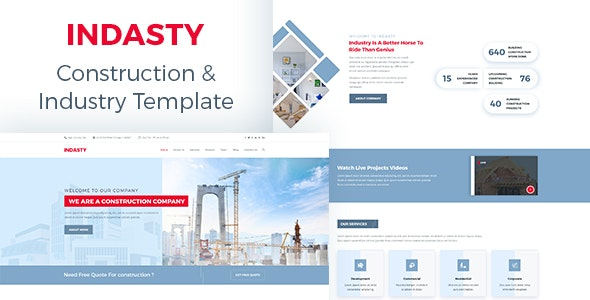 INDASTY - Construction & Industry PSD Template - Corporate PSD Templates
