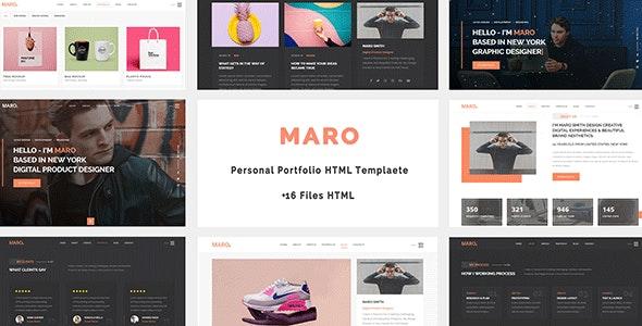 Maro - Personal Portfolio HTML Template - Personal Site Templates