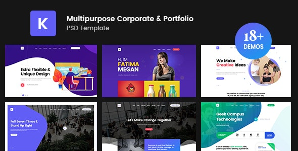 Kreativ - Multipurpose Business Portfolio PSD Template - Corporate Photoshop