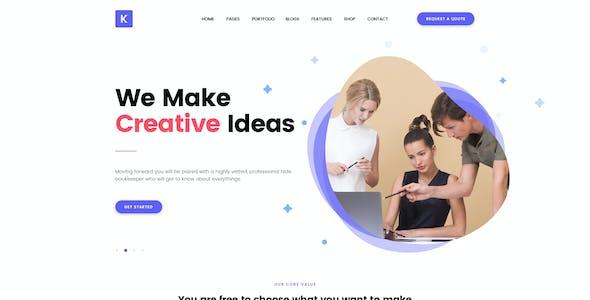 Kreativ - Multipurpose Business Portfolio PSD Template
