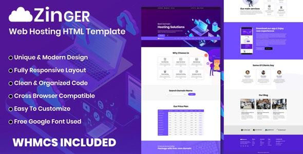 Zinger - Web Hosting HTML Template - Hosting Technology