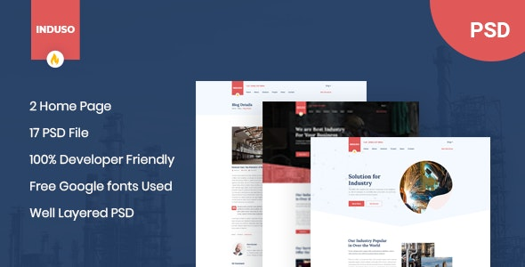 Induso - Industry PSD Template - Business Corporate