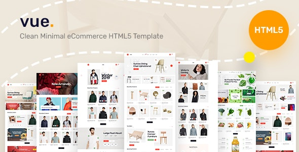 Vue - Clean Minimal eCommerce HTML5 Template - Shopping Retail