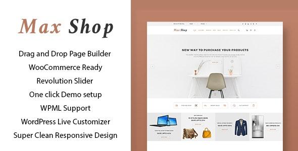 Max shop - WooCommerce WordPress Theme - WooCommerce eCommerce