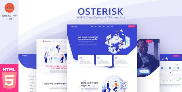 Osterisk: Saas, Startup & Agency HTML Template - Business Corporate