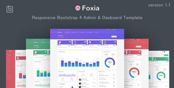Foxia - Admin & Dashboard Template - Admin Templates Site Templates