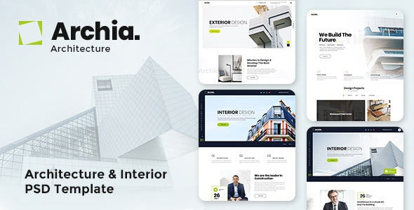 Archia - Architecture & Interior PSD Template - Business Corporate