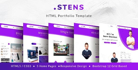 Stens - Personal Portfolio and CV HTML Template - Portfolio Creative