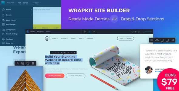 WrapKit with Page Builder - Corporate Site Templates