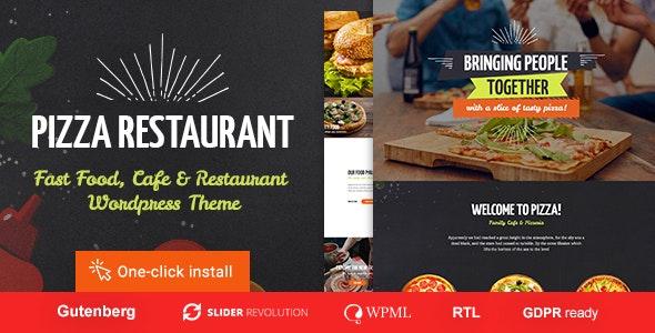 Pizza Restaurant - Fast Food & Cafe WordPress Theme - Restaurants & Cafes Entertainment