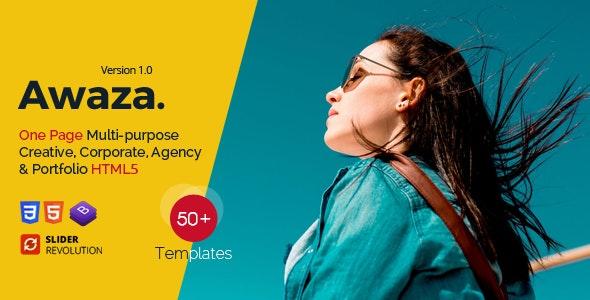 Awaza - One Page Multipurpose - Portfolio Creative