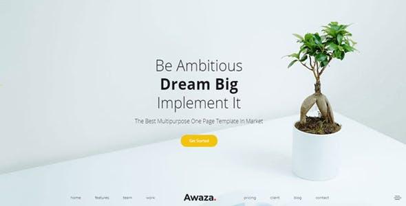 Awaza - One Page Multipurpose