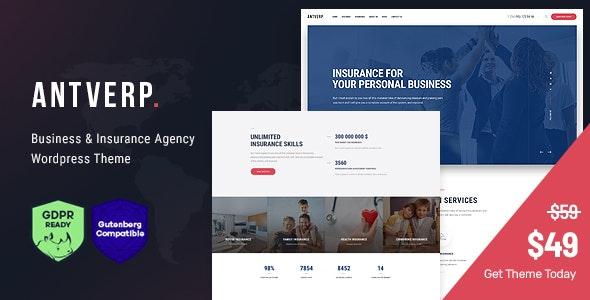 Antverp   An Insurance & Financial Advising WordPress Theme