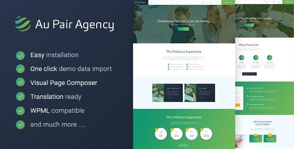 Au-Pair - Babysitting & Nanny Agency WordPress Theme - Business Corporate