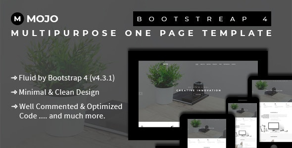 Mojo - Bootstrap 4 Multipurpose One Page Template - Business Corporate