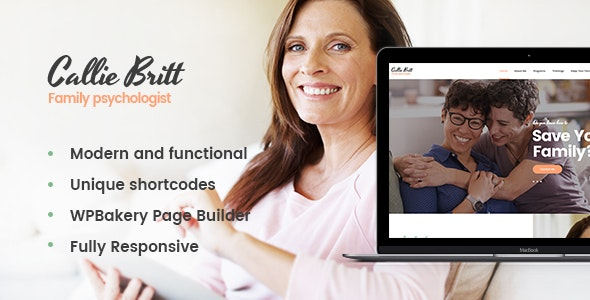 Callie Britt   Family Counselling Psychology WordPress Theme
