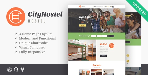 City Hostel   A Travel & Hotel Booking WordPress Theme - Travel Retail