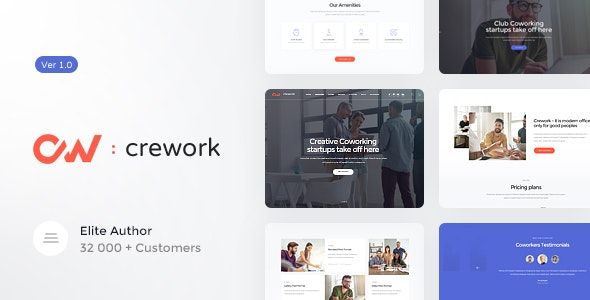 Crework   Coworking and Creative Space WordPress Theme - Business Corporate