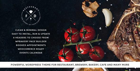 Food & Drink - An Elegant Restaurant / Cafe / Pub WordPress Theme - Restaurants & Cafes Entertainment