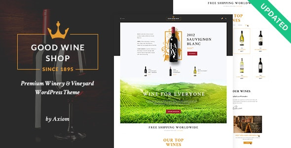 Good Wine | Vineyard & Winery Shop WordPress Theme - WooCommerce eCommerce