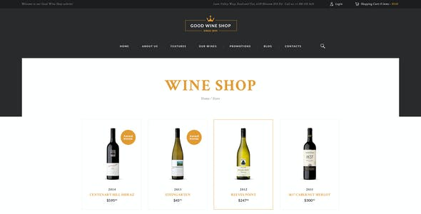 Good Wine | Vineyard & Winery Shop WordPress Theme