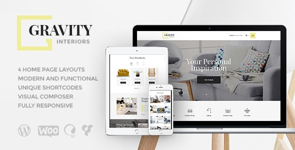 Gravity | A Contemporary Interior Design & Furniture Store WordPress Theme - Retail WordPress