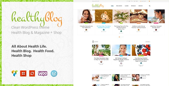 Healthy Living - Blog with Online Store WordPress Theme - Personal Blog / Magazine