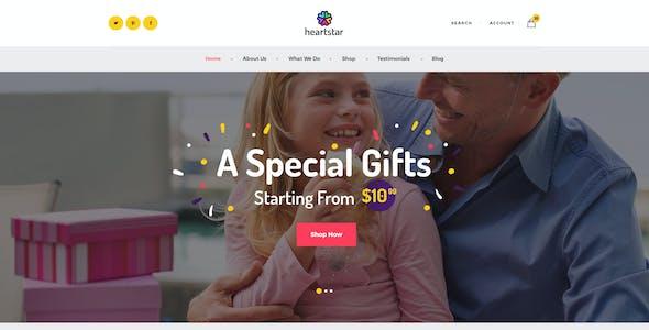 HeartStar | Gift Shop, Party & Event WordPress Theme