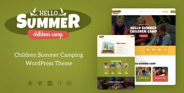 Hello Summer | A Children Holiday Camp WordPress Theme - Children Retail