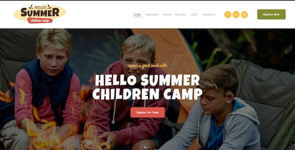 Hello Summer | A Children Holiday Camp WordPress Theme