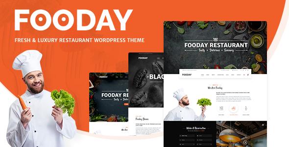 Fooday - Fresh & Luxury Restaurant, Coffee WordPress Theme - Restaurants & Cafes Entertainment