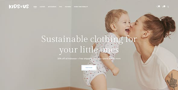 Kids R Us - Toy Store and Children Clothes Shop Theme