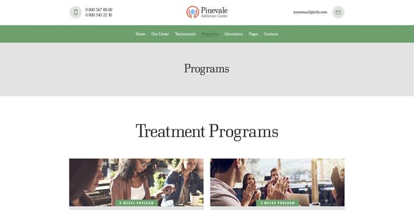 Pinevale | Addiction Recovery and Rehabilitation Center WordPress Theme