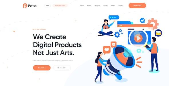 Pohat - SEO & Digital Marketing Agency PSD Template