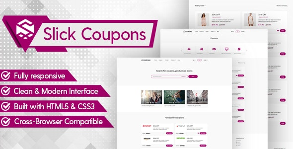 Slick - Minimal Coupons HTML Template - Shopping Retail