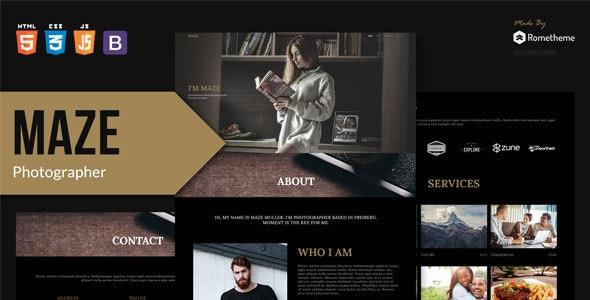 MAZE - Photography Portfolio HTML Template - Photography Creative