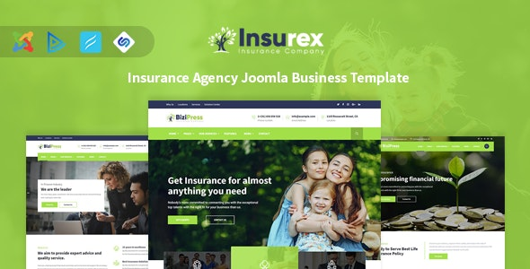 Insurex - Insurance Agency Joomla Business Template - Business Corporate