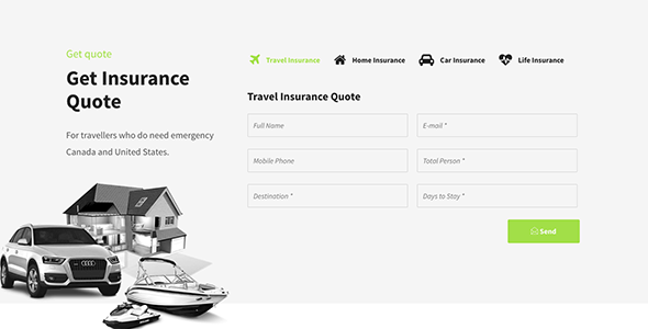 Insurance Agency Cms Website Templates From Themeforest