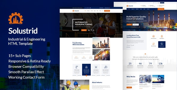 Solustrid - Factory & Industrial Business HTML Template - Business Corporate