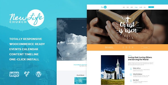 New Life | Church & Religion WordPress Theme - Churches Nonprofit