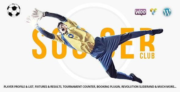 Soccer Club - Football Team WordPress Theme - Entertainment WordPress