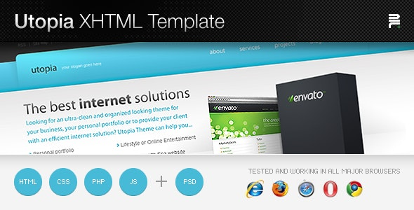 Utopia XHTML Template - Business Corporate