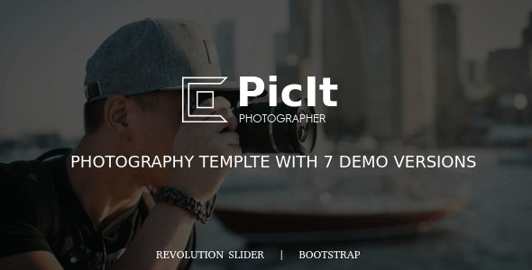 PicIt - Photography And Photographer Fullscreen HTML Template - Photography Creative