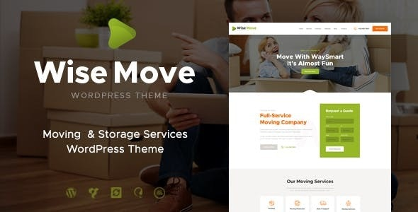 Wise Move | Relocation and Storage Services WordPress Theme - Business Corporate