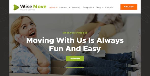 Wise Move | Relocation and Storage Services WordPress Theme