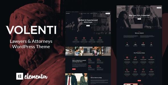 Volenti - Lawyers Elementor WordPress Theme - Business Corporate