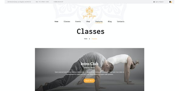 Tantra | A Yoga Studio and Fitness Club WordPress Theme
